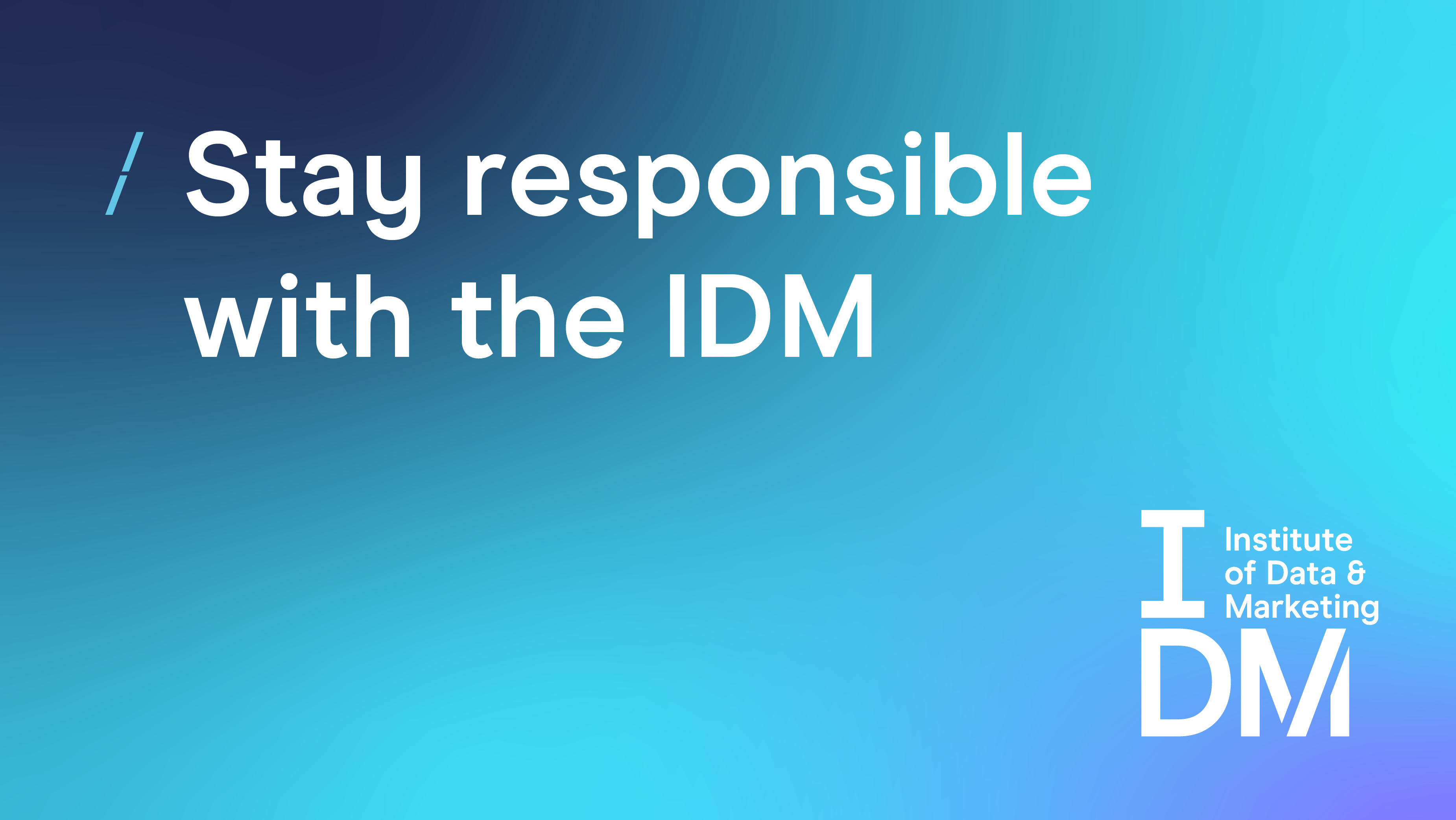 Stay responsible with the IDM-101.png