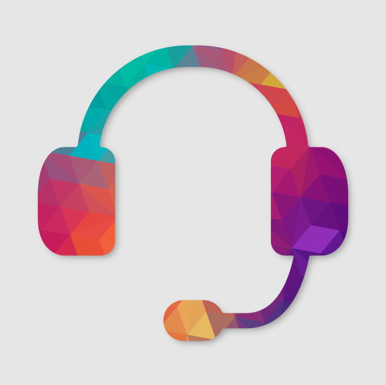 Colourful headset with microphone