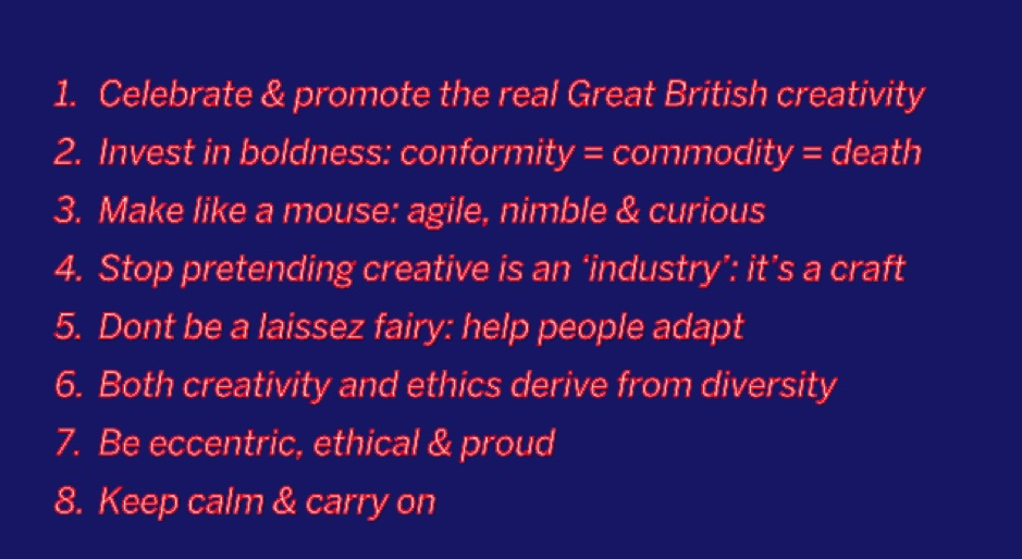 What is creativity for in the UK today